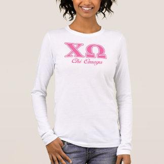 キーのオメガのピンクの手紙 長袖Tシャツ
