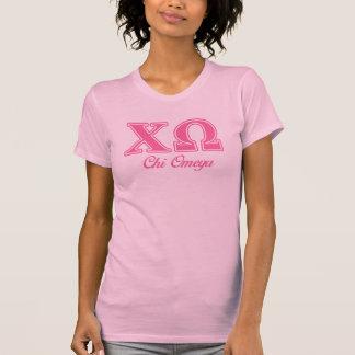 キーのオメガのピンクの手紙 Tシャツ