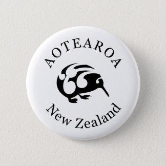キーウィのニュージーランド/Aotearoaの国民の鳥 5.7cm 丸型バッジ