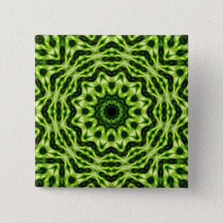 キーウィの万華鏡のように千変万化するパターン 5.1CM 正方形バッジ
