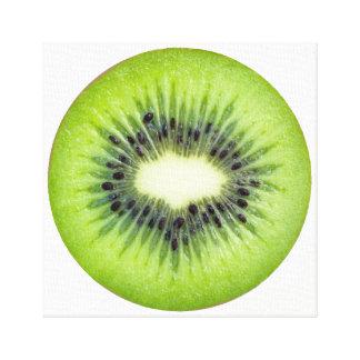 キーウィの切れのフルーツの芸術 キャンバスプリント