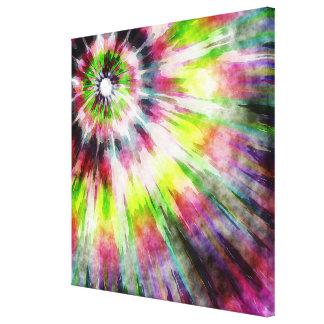 キーウィの絞り染めの水彩画 キャンバスプリント