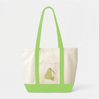 キーウィの鳥によって着色されるトートバック トートバッグ