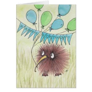 キーウィの鳥のハッピーバースデー カード