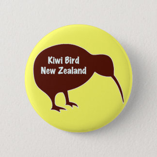 キーウィの鳥-ニュージーランド 5.7CM 丸型バッジ