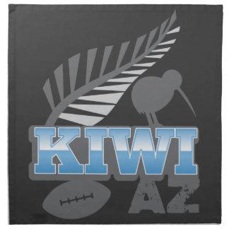 キーウィAZのラグビーの鳥および銀製シダニュージーランド ナプキンクロス