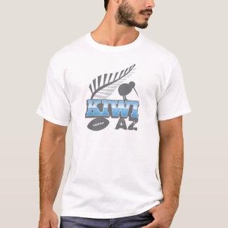 キーウィAZのラグビーの鳥および銀製シダ Tシャツ