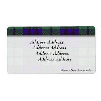 キースの一族の格子縞のスコットランド人のタータンチェック ラベル