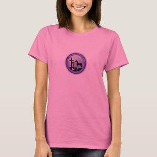 キースの乗馬センター。 ピンク。 美女。 ワイシャツ。 ロゴ Tシャツ