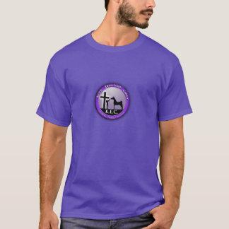 キースの乗馬センター。 Tシャツ。 紫色のロゴFrnt Tシャツ