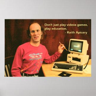 キースApicaryの教育ポスター ポスター