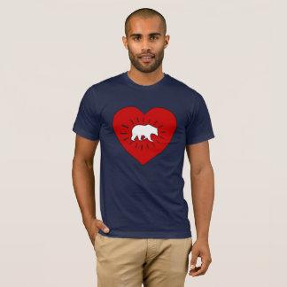 キースHaringのスタイルくまのハート Tシャツ