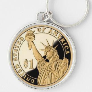 キーホルダーとして女性自由の硬貨 キーホルダー