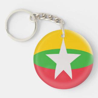 キーホルダーのミャンマーの旗 キーホルダー