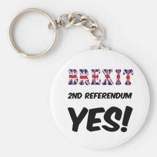 キーホルダーのBrexitの第2国民投票のYes キーホルダー