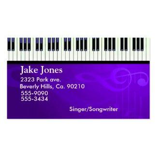 キーボードのピアノオートクチュール ビジネスカード