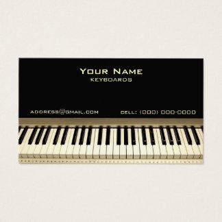 キーボードのミュージシャンの名刺 名刺