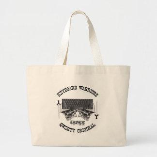 キーボードの戦士-トロール ラージトートバッグ