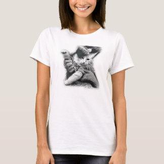 キーボード猫の鉛筆のスケッチのワイシャツ Tシャツ