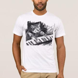 キーボード猫の鉛筆のスケッチのワイシャツ! Tシャツ
