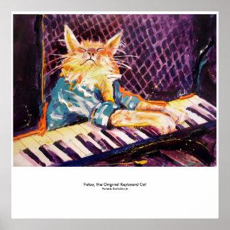 キーボード猫色ポスター ポスター