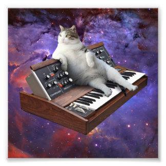 キーボード猫-猫のミーム-熱狂するな猫 フォトプリント