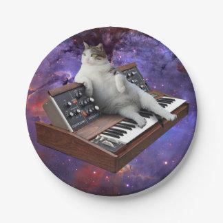 キーボード猫-猫のミーム-熱狂するな猫 ペーパープレート