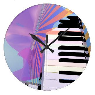 キーボード音楽の解放 ラージ壁時計