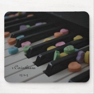 キーボード1のCorinthiansの13:1のキャンデーのハート- 3 マウスパッド