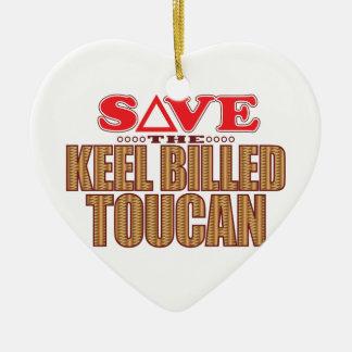 キールによってToucanの勘定書を出される保存 セラミックオーナメント
