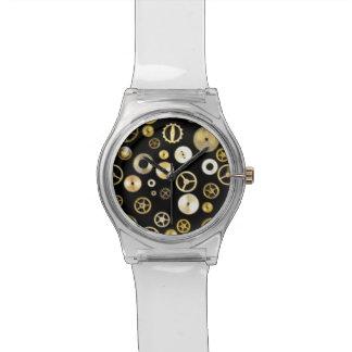 ギアおよびコグの腕時計 腕時計