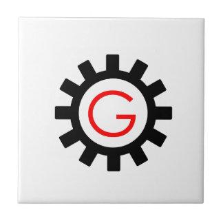 ギアのアルファベットG タイル