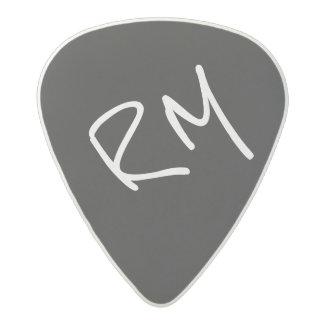 ギタリストのために名前入りなギター一突き黒い アセタール ピック