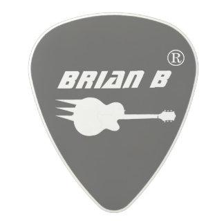 ギタリストの一流の名前入りな黒 ポリカーボネートギターピック