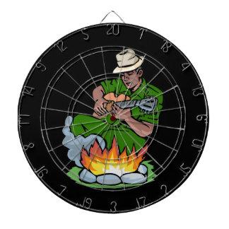ギタリストのfire.pngによる暗い皮の緑のワイシャツ ダーツボード