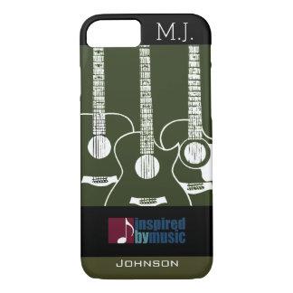 ギターによって音楽インスパイアグラフィック iPhone 8/7ケース