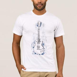 ギターのきれいな背景の青いしぶき Tシャツ