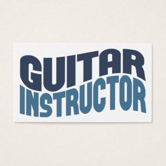 ギターのインストラクターの名刺 名刺