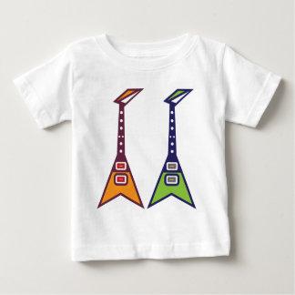 ギターのエレクトロ ベビーTシャツ