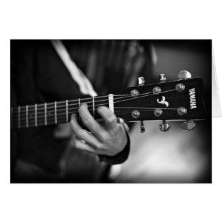 ギターのカスタマイズ可能なカード カード