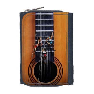 ギターのクライマーのデニムの財布 ウォレット