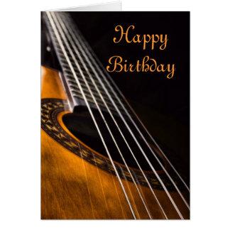 ギターのバースデー・カード グリーティングカード