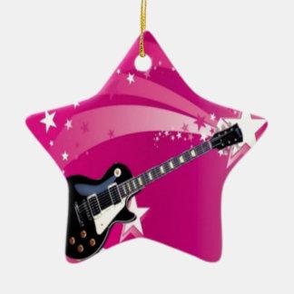 ギターのピンク セラミックオーナメント