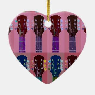 ギターのヘッドストックのポップアート セラミックオーナメント