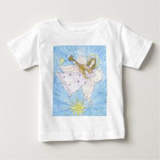 ギターのベビーのTシャツとの天使 ベビーTシャツ