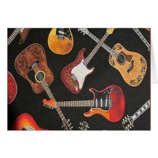 ギターの天国のメッセージカード カード