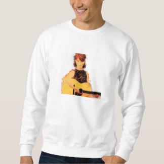 ギターの女の子のplayin スウェットシャツ