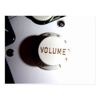 ギターの容積のノブ ポストカード