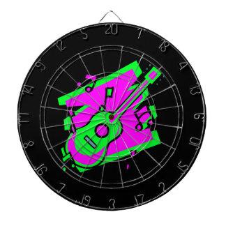 ギターの抽象芸術の走り書きはgreen.pngを飾ります ダーツボード