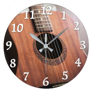 ギターの時計 ラージ壁時計